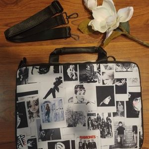 New retro Audrey Hepburn Ramones laptop bag